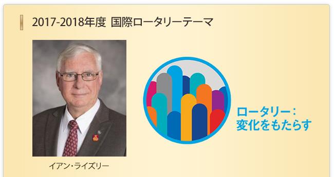 2017-18年度会長 RI会長:イアン・ライズリー
